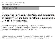 Previous Publication: Comparing SurePath, ThinPrep, and conventional cytology as primary test method: SurePath is associated with increased CIN II+ detection rates