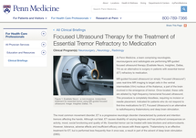 Clinical Brief: Focused Ultrasound Therapy for the Treatment of Essential Tremor Refractory to Medication