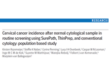 Latest Publication: Cervical cancer incidence after normal cytological sample in routine screening using SurePath, ThinPrep, and conventional cytology: population based study