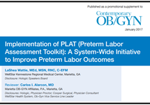 Article: Implementation of PLAT (Preterm Labor Assessment Toolkit): A System-Wide Initiative to Improve Preterm Labor Outcomes