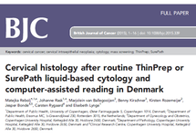 Cervical histology after routine ThinPrep or SurePath liquid-based cytology and computer-assisted reading in Denmark